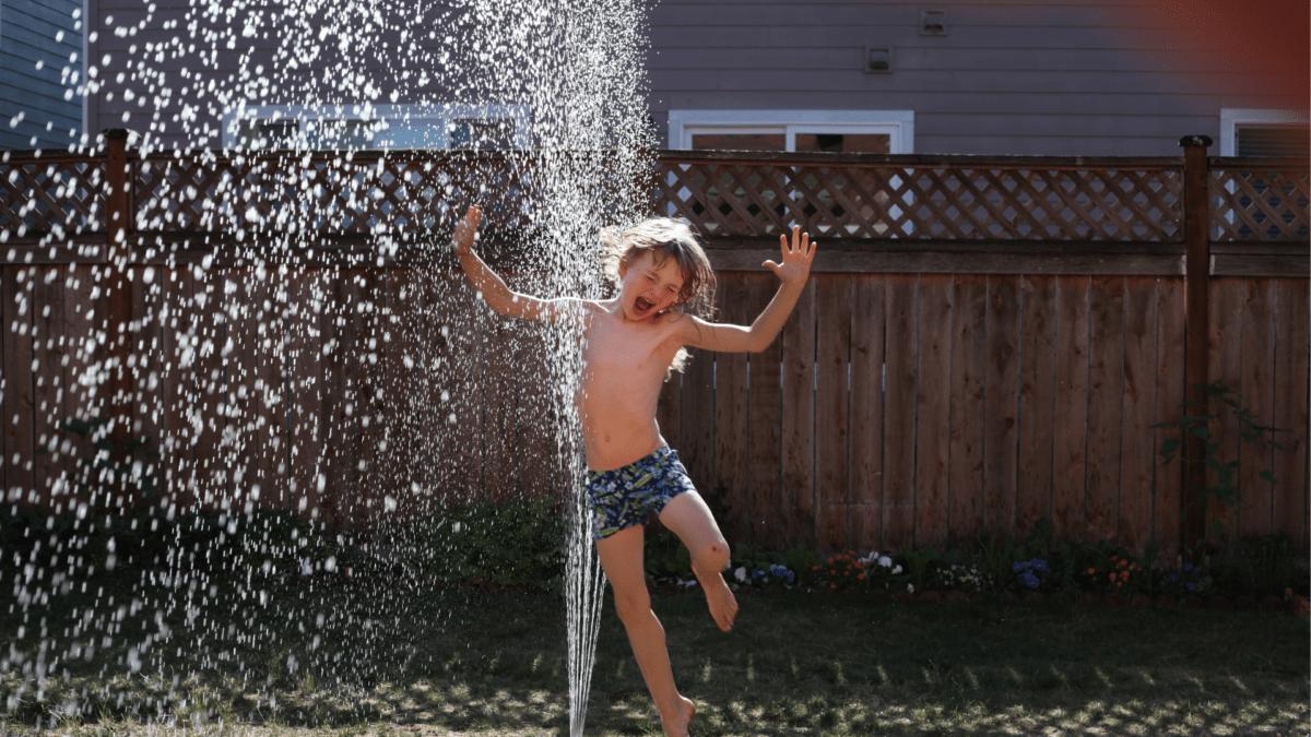 子ども噴水