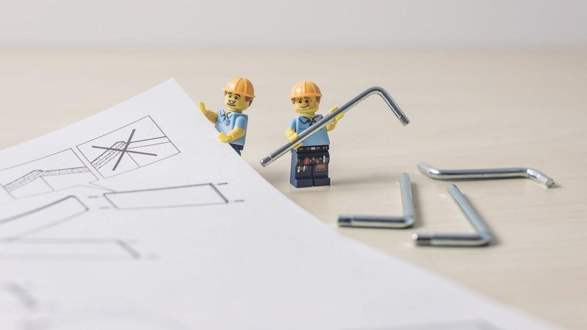 レゴ組み立てる