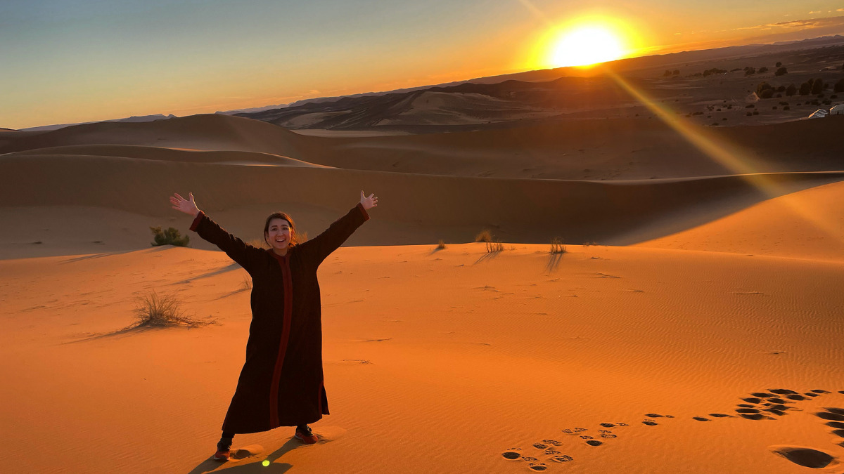 モロッコのサハラ砂漠