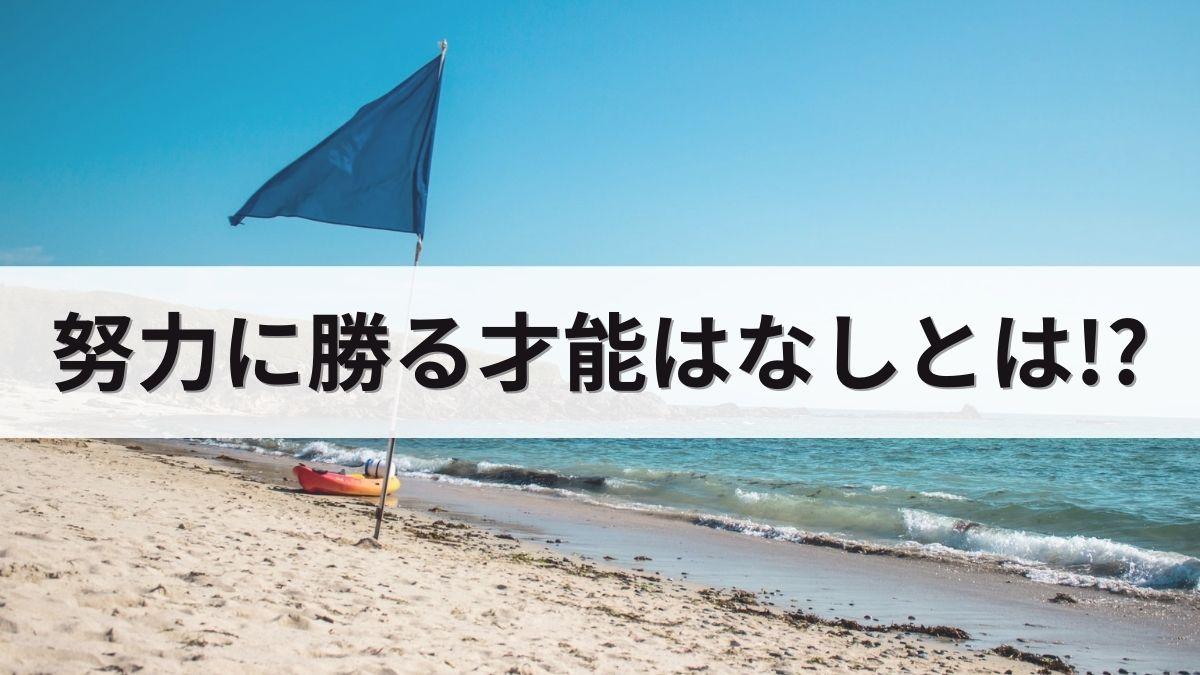 ビーチと青い旗